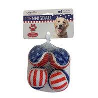 Dog Fetch Animal-Print Tennis Balls, 4-Pack