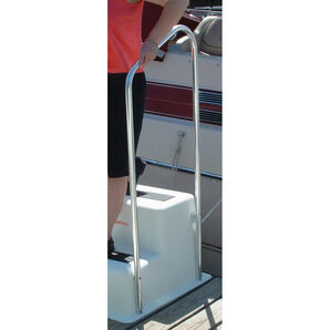 "Double Step Dock Step Handrail 19.5""Wx49""H"