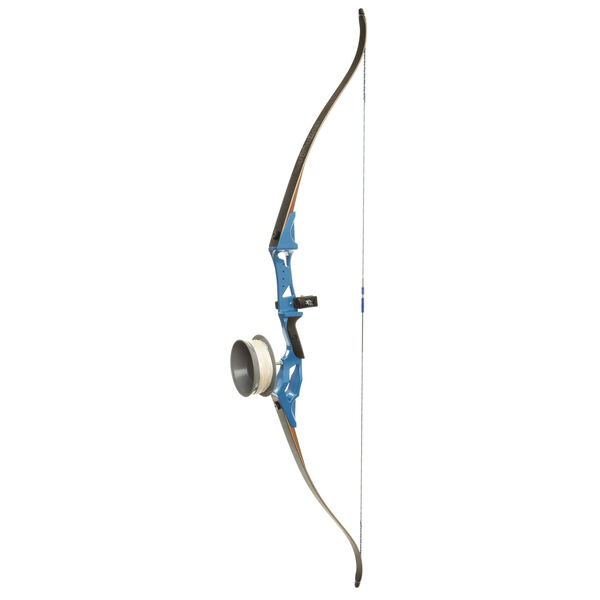"""Fin-Finder Bank Runner Bowfishing Recurve Bow Package, Blue, 58"""", 35-lbs., RH"""