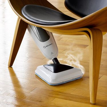 3-in-1 Steam & Scrub Steam Mop with Replaceable Microfiber Pads & Carpet Glide