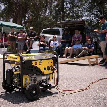 Champion 3800 Watt RV Ready Portable Generator with Wheel Kit