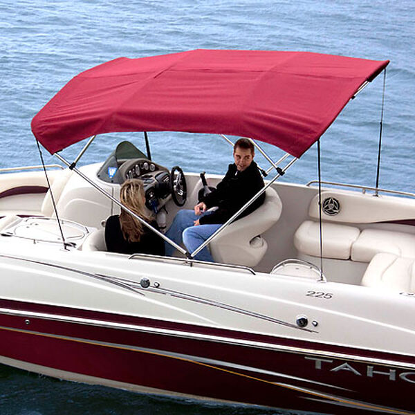 Shademate Polyester Stainless 4-Bow Bimini Top 8'L x 54''H 85''-90'' Wide