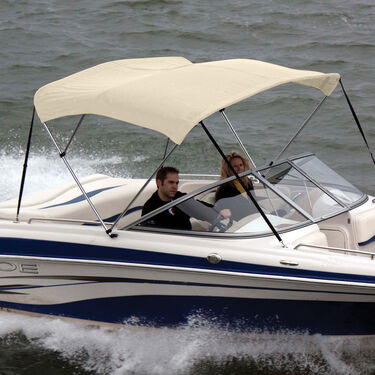 """Shademate Polyester 3-Bow Bimini Top, 5'L x 32""""H, 54""""-60"""" Wide"""