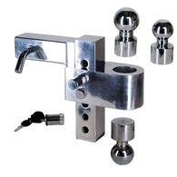 Class V Adjustable, Aluminum Alloy Ball Mount with Trailer Hitch