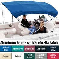 "Shademate Polyester 3-Bow Bimini Top, 6'L x 46""H, 79""-84"" Wide"