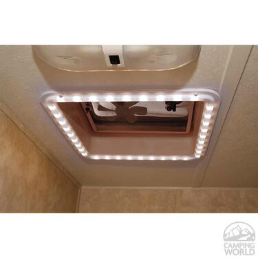 RV Chandelier LED Roof Vent Trim Ring- Cool White