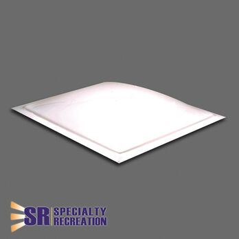"Square Thermoformed Polycarbonate RV Skylight, 14"" x 14"" White"