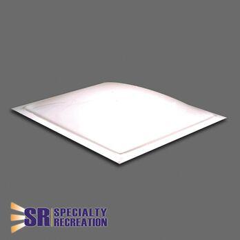 "Thermoformed Polycarbonate 18.25"" x 18.25"" RV Skylight, White"