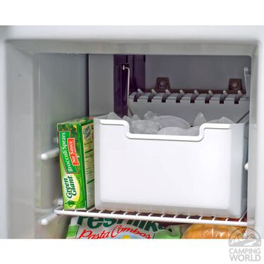 Norcold Refrigerator with Ice Maker and Stainless Steel Wraparound Doors,12CF