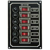 SeaSense 6-Gang Rocker Switch Panel