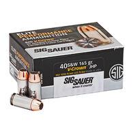 SIG Sauer Elite Performance V-Crown Ammo .40 S&W 165gr. JHP