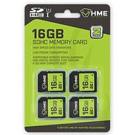 HME Products 16GB SDHC Memory Cards, 4-Pack