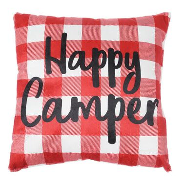 """Happy Camper Throw Pillows, 16"""" x 16"""""""