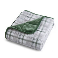 """Dream Theory Velvet 12-lb. Weighted Throw Blanket, Green, 48"""" x 72"""""""