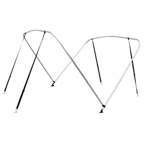 "Shademate Bimini Top 2-Bow Aluminum Frame Only, 5'6""L x 42""H, 67""-72"" Wide"