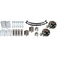 Tie-Down Axle Installation Kit With Painted Hub