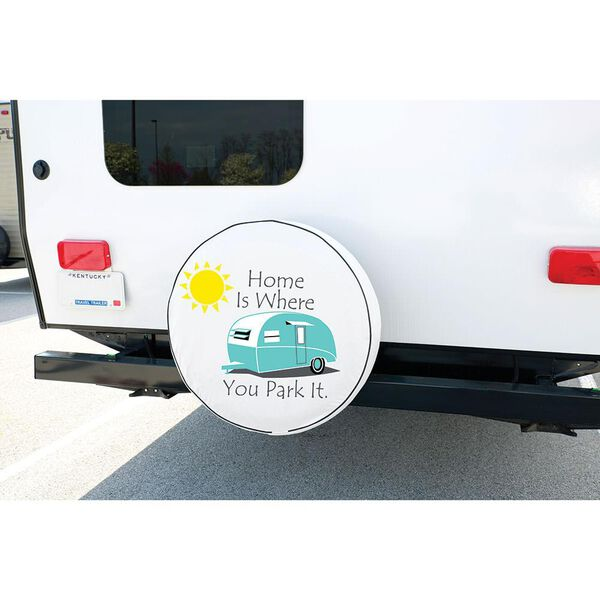 Vinyl Spare Tire Cover, Home is Where You Park It