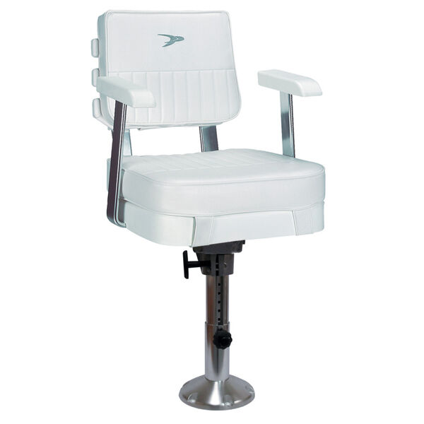 Wise Ladder-Back Chair With Adjustable Pedestal, Spider Mounting Plate