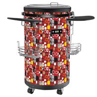 70-Bottle Single Zone 1.77 Cu. Ft. Refrigerated Party Cooler with Casters in Red