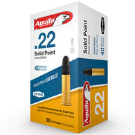 Aguila Super Extra Solid Lead Point Standard Rimfire Ammunition, .22 LR, 40-gr.
