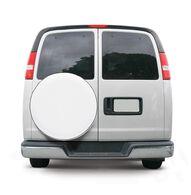"Overdrive Custom Fit Spare Tire Cover - Tire diameter 24""-25"", Snow White"
