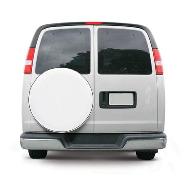 "Overdrive Custom Fit Spare Tire Cover - Tire diameter 26.75-27.75"", Snow White"