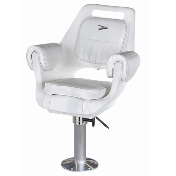 "Wise Deluxe Pilot Chair w/15"" Fixed Pedestal and Seat Slide"