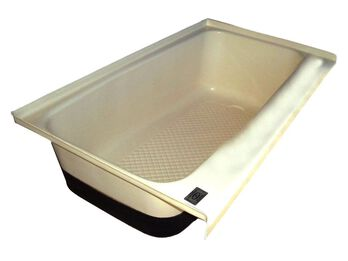 RV Bath TUB Right Hand Drain TU700RH - Colonial White
