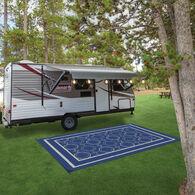 Reversible RV Patio Mat, Magnolia Design
