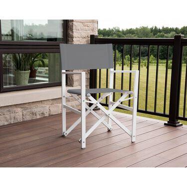 Studio Aluminum Folding Director's Chair, Gray