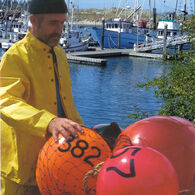 "Commercial Fishing Net Buoy, Blaze Orange (27"" x 33"")"