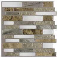"Peel-and-Stick Mosaic Wall Tile, 10"" x 10"", Mountain Terrain"