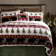Tall Pine 4-piece Sherpa Twin Bedding Set