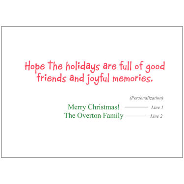 Personalized Santa's Pontoon Party Christmas Cards