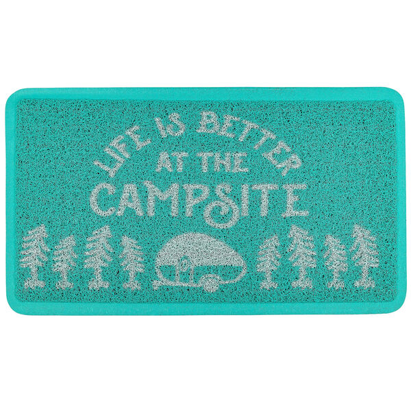 Camco Life Is Better At The Campsite Scrub Rug Teal Camping World