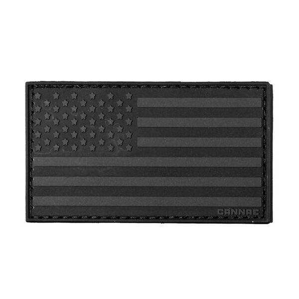 Cannae Pro Gear American Flag Left Arm Patch (Black)