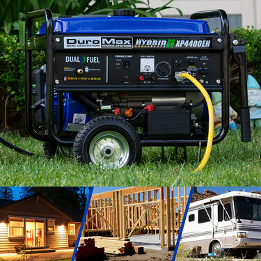DuroMax Dual Fuel 4,400-Watt Electric Start Generator
