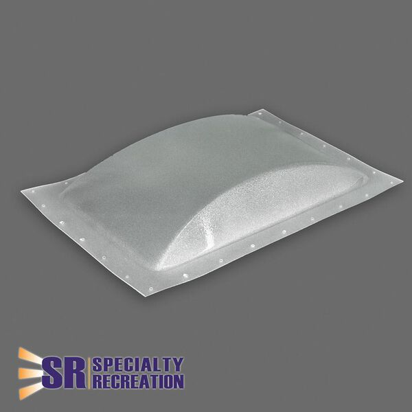 """Low Profile Thermoformed Polycarbonate 14"""" x 22"""" RV Skylight, Ice"""