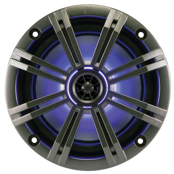 "Kicker 43KM654LCW 6.5"" Two-Way Marine Speakers w/Built-In LED Lighting, Pair"