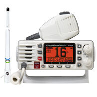 Standard Horizon Eclipse GX1300 Class D DSC VHF Radio Package, White, w/Antenna