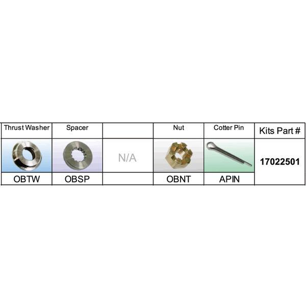 Solas 17022501 Propeller Kit for BRP/Johnson/Evinrude/OMC 15-35 HP