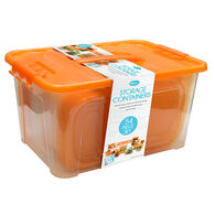 Home Collections 54-Piece Food Storage Container Set, Orange