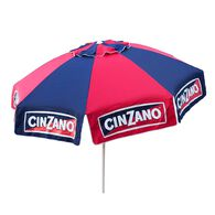 8 ft Cinzano Deluxe Beach and Patio Umbrella with Storage Bag