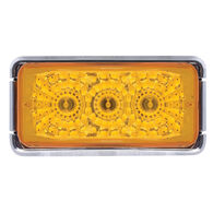 Optronics Waterproof LED Miro-Flex Sealed Trailer Marker/Clearance Light, Amber