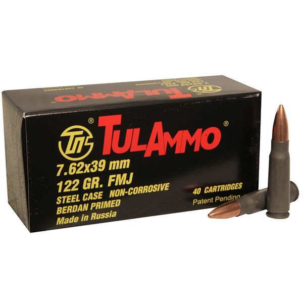TulAmmo Rifle Ammunition, 7.62x39mm, 122-gr., FMJ