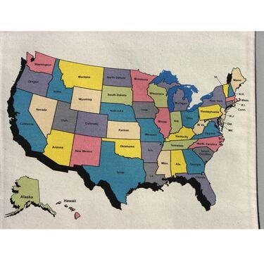Travel Keepsake Map- USA