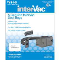 Replacement InterVac Vacuum Dust Bags, 5-pack