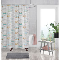 """Live, Love, Camp"" Shower Curtain and Bath Rug Set"