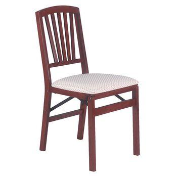 Slat Back Folding Chair, Cherry