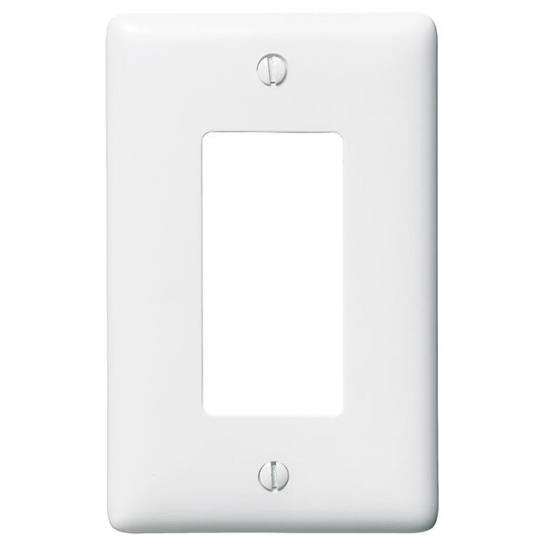 Hubbell White Rectangular Wall Plate